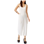 MinkPink Womens Cropped Pinstriped Jumpsuit
