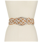 I-N-C Womens Metallic Woven Belt