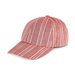 I-N-C Womens Striped Baseball Cap