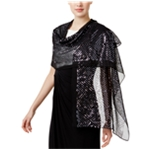 I-N-C Womens Sequined Wrap