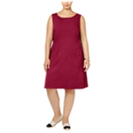 Love Squared Womens Sleeveless Shift Dress