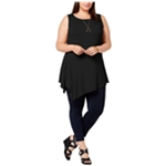 Joseph A. Womens Asymmetrical Tunic Blouse