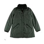 Halifax Womens Faux-Fur-Trim Water-Resistant Parka Coat
