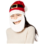 Hooked Up by IOT Womens Bearded Santa Beanie Hat