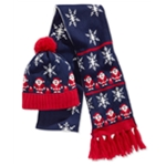 Hooked Up by IOT Womens 2pc Santa Claus Beanie Hat