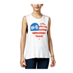 Miss Chievous Clothing Womens American Flag Bike Tank Top