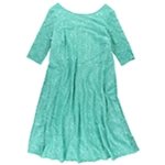 Sangria Womens Lace A-line Dress