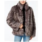 Wildflower Womens Faux-Fur Coat