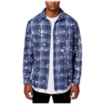 Jaywalker Mens Bleach Splatter Button Up Shirt