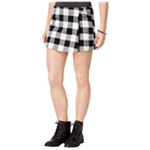 BeBop Womens Faux-Wrap Plaid Skort Skirt