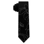 Calvin Klein Mens Statement Iris Self-tied Necktie