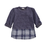 Monteau Girls Layered-Look Pullover Blouse