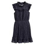 Monteau Girls Ruffled Lace A-line Dress