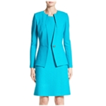 St. John Womens Clair One Button Blazer Jacket