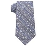 Calvin Klein Mens Indigo Flower Self-tied Necktie