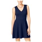 City Studio Womens Fit & Flare Solid Shift Dress