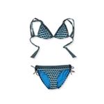 Kenneth Cole Womens Geo Side Tie 2 Piece Bikini