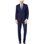 Michael Kors Mens Classic Fit Navy Blue Two Button Suit