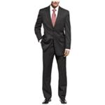 Michael Kors Mens Solid Black Two Button Suit