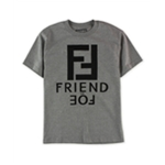 SUVAS Mens Friend Or Foe Logo Graphic T-Shirt