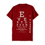 Everydaze My Birthday Mens Eye Chart Graphic T-Shirt