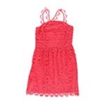 Kensie Womens Crochet A-line Sheath Dress