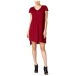 Kensie Womens Flutter Sleeve Asymmetrical Dress