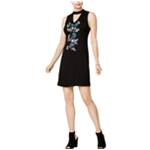 Kensie Womens Embroidered A-line Dress