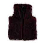Kensie Womens Tipped Faux Fur Vest