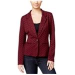 Kensie Womens Polka Dot Blazer Jacket