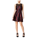 Kensie Womens Contrast Fit & Flare A-line Dress