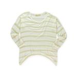 Big Star Womens Metallic Striped Pullover Sweater