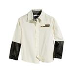 Sean John Boys Faux-Leather Trim Button Up Shirt
