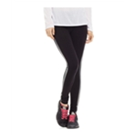 Material Girl Womens Foil Tuxedo-Stripe Yoga Pants