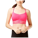 Material Girl Womens Ruched Padded Sports Bra
