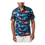 Newport Blue Mens Live To Fish Button Up Shirt
