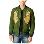 GUESS Mens Embroidered Bomber Jacket