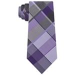 Kenneth Cole Mens Lunar Plaid Self-tied Necktie