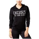 Material Girl Womens Excuses Don't Burn Calories Hoodie Sweatshirt