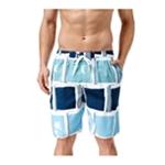 Newport Blue Mens Hollywood Squares Swim Bottom Board Shorts