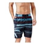 Newport Blue Mens Striped Palm Swim Bottom Board Shorts