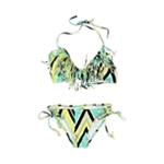 Raisins Womens Kara Fringe Side Tie 2 Piece Bikini
