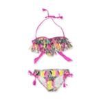 Raisins Womens Geo-Print Fringe 2 Piece Bikini