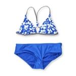 Raisins Womens Santa Barbara Skinny Ruched 2 Piece Bikini