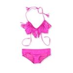 Raisins Womens Fringe Ruched 2 Piece Bikini