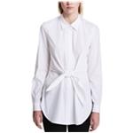 Calvin Klein Womens Tie Front Button Down Blouse