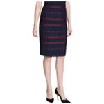 Calvin Klein Womens Lace Scuba Pencil Skirt
