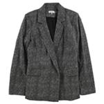 Calvin Klein Womens Printed One Button Blazer Jacket