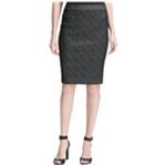 Calvin Klein Womens Jacquard Pencil Skirt