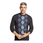 Tricots St Raphael Mens Diamond Pattern Pullover Sweater